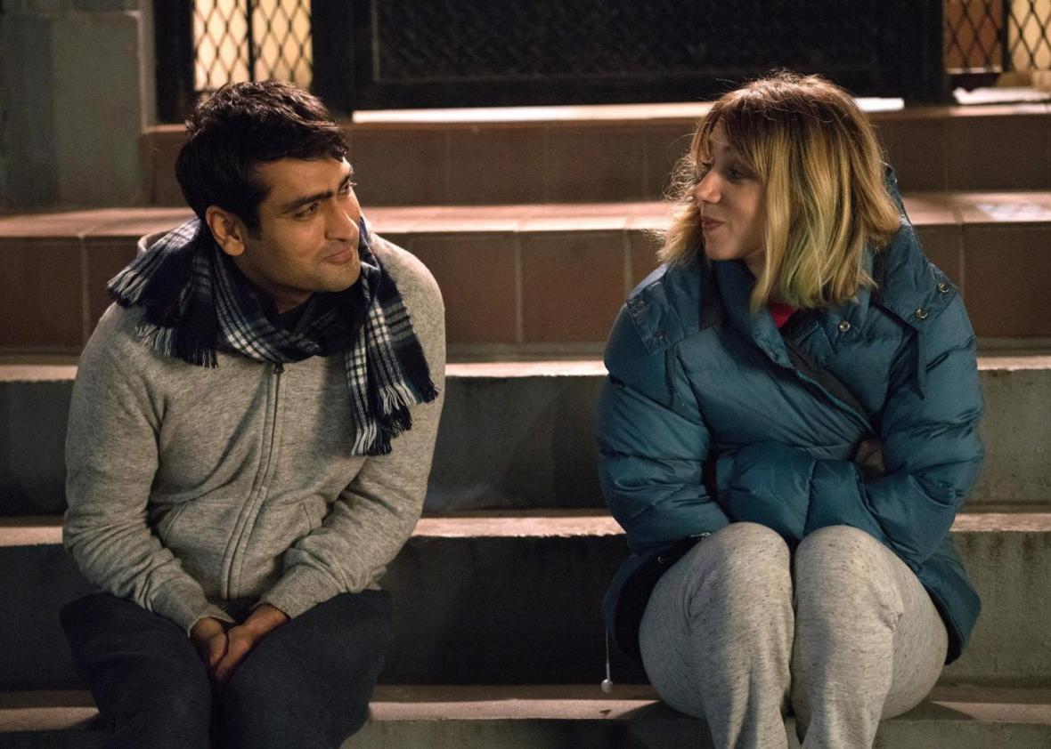 Kumail Nanjiani and Zoe Kazan in The Big Sick