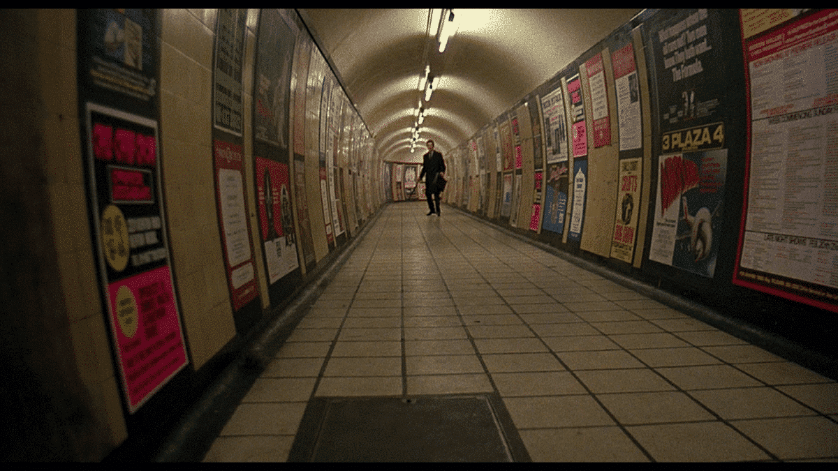 A lone commuter has other problems to worry about than his business deadlines down in the tube.