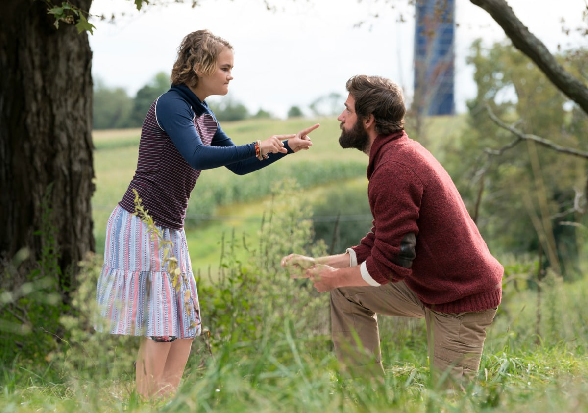 In A Quiet Place, John Krasinski attempts to protect his deaf child, Millicent Simmonds, from the monstrous threat with another makeshift hearing aid, which is the B Story.