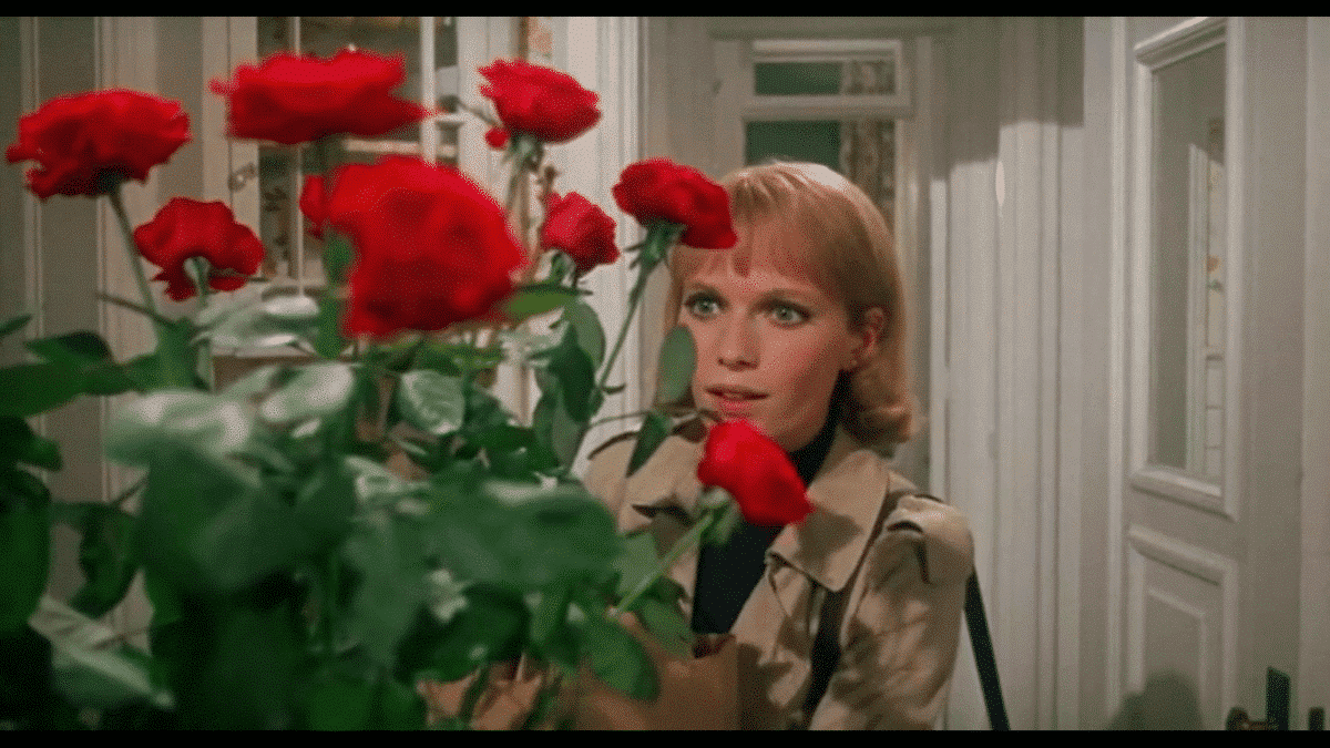 Guy romances Rosemary with roses to convince her he still cares and is not a self-absorbed actor. The trick works and he comes out smelling like a rose.