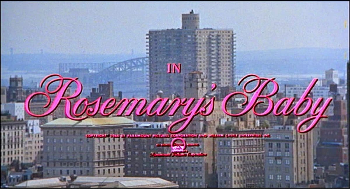 The Opening Image of Rosemary's Baby quickly sets the stage (and mood) for the dark tale.