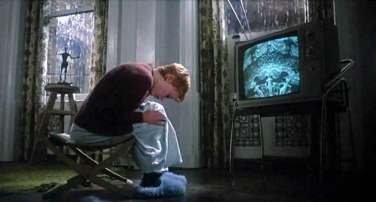 No it's not the effects of bad television, it's Rosemary's baby gestating within.