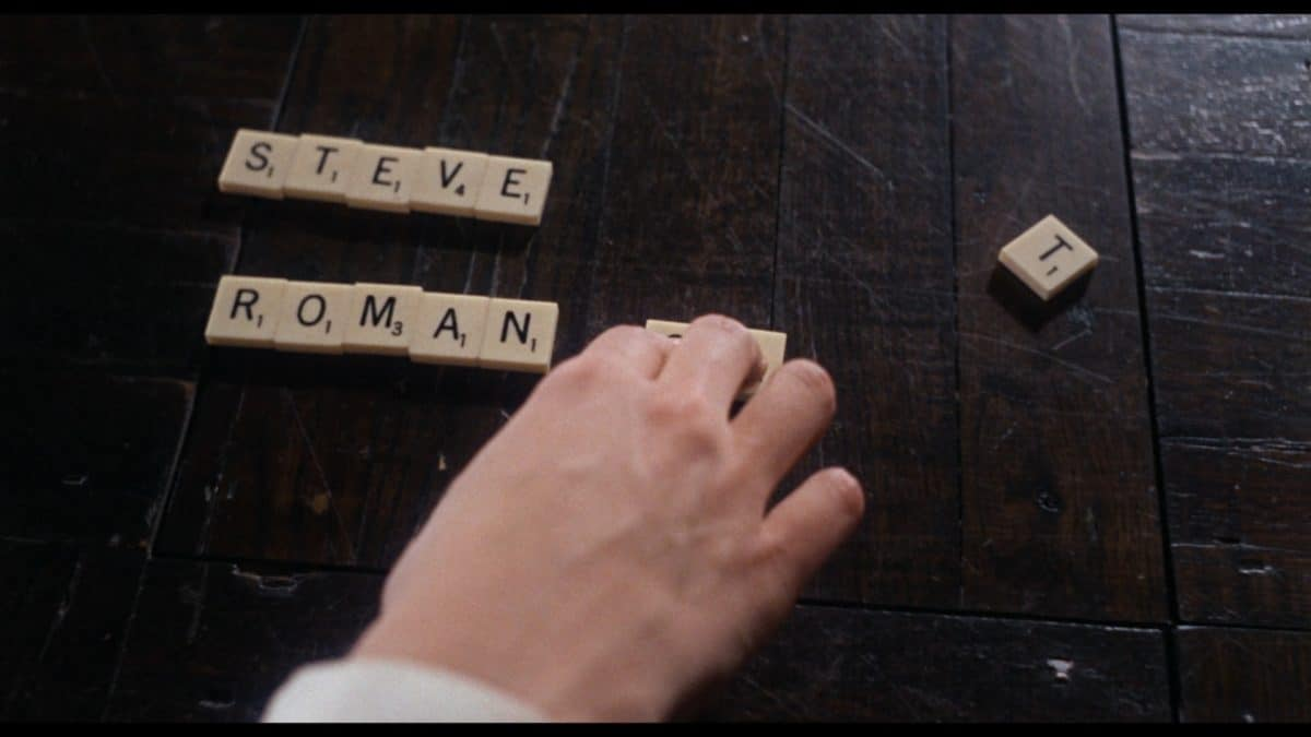 Thanks to keeping a Scrabble game around, and information from Hutch, Rosemary literally puts the pieces of the conspiracy against her together.