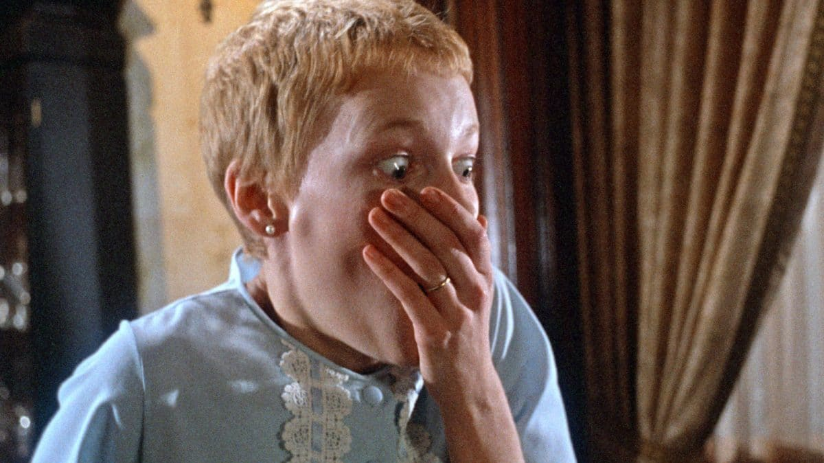 """""""What have you done to its eyes?"""" Rosemary finally has a look at the baby of witch which she gave birth."""