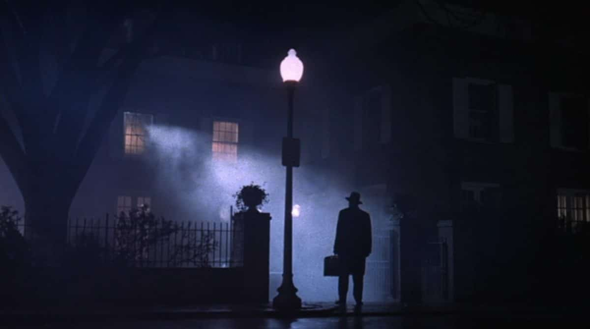 The exorcist arrives—the emblematic shot that heralds the Break into Three.