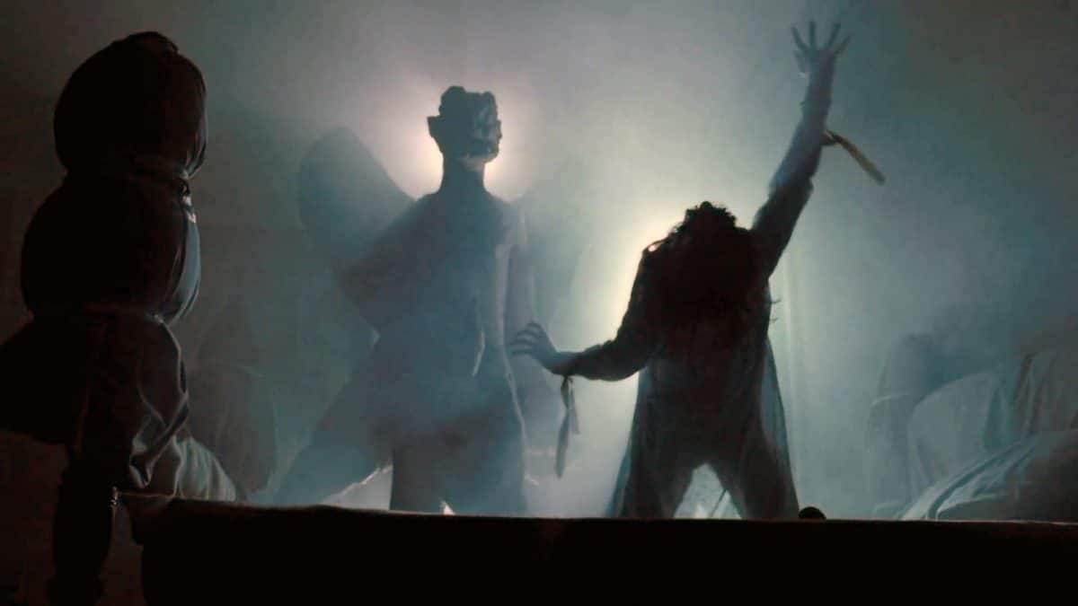 The image of Pazuzu appears during the exorcism.