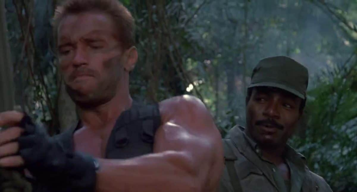 """Dillion makes fun of Dutch for his """"boy scout tactics."""" In the end, it's the primitive simplicity that will win the day against the futuristic predator."""