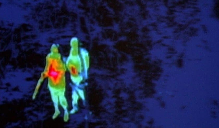 """The stalking Predator finds another """"hot date"""" with its thermal imager."""
