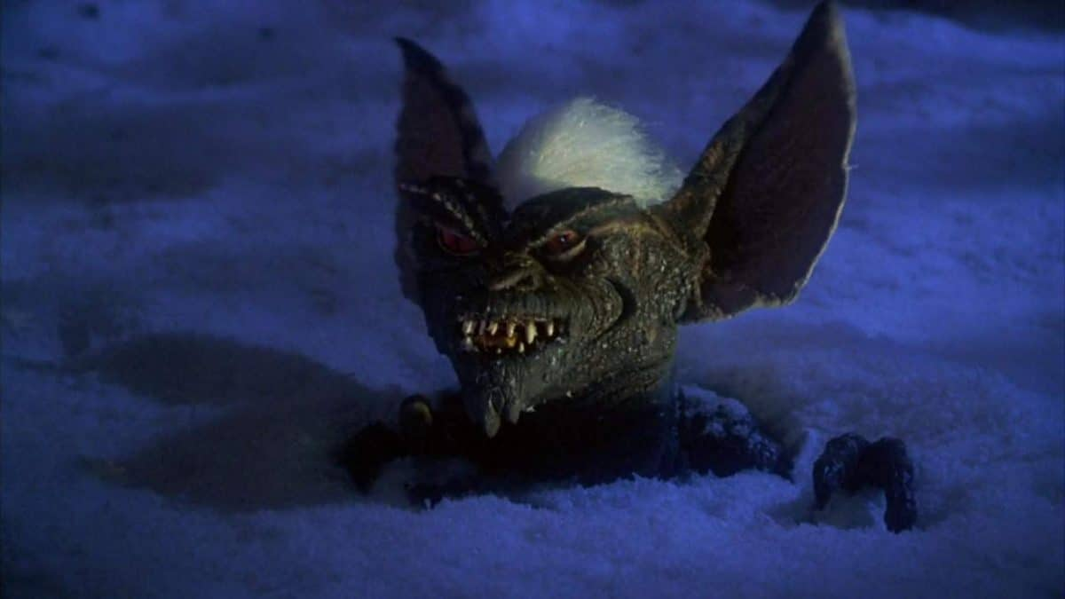 Snow job: The devious Stripe is the ringleader of the Gremlins' assault on Kingston Falls.