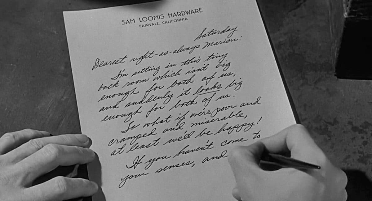 Sam writes an apologetic letter to Marion about a week too late.