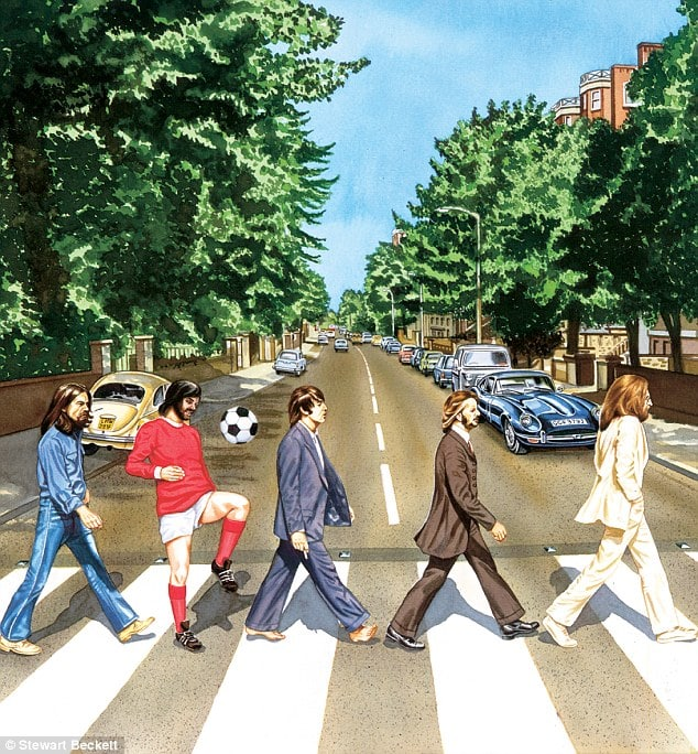 Artist Stewart Beckett's portrayal of the Fifth Beatle
