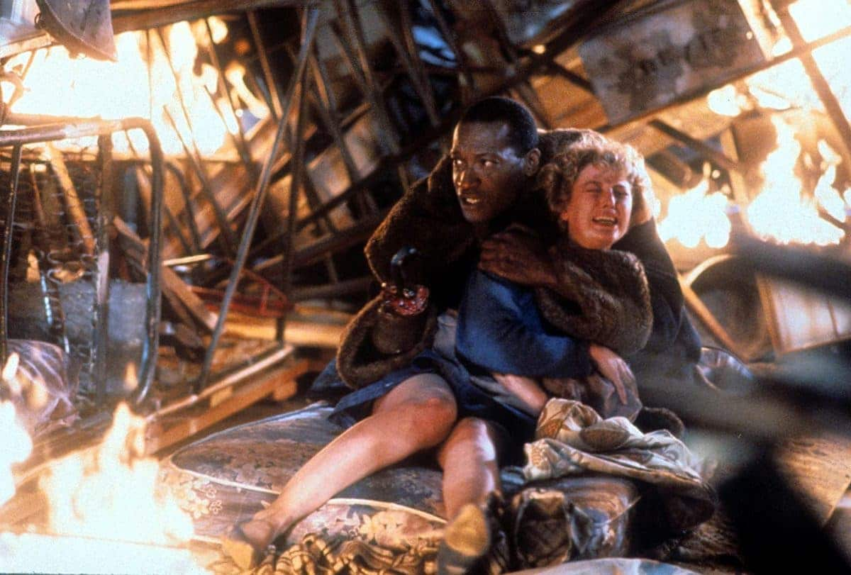 Hooked: Candyman tries to prevent Helen from saving baby Anthony.