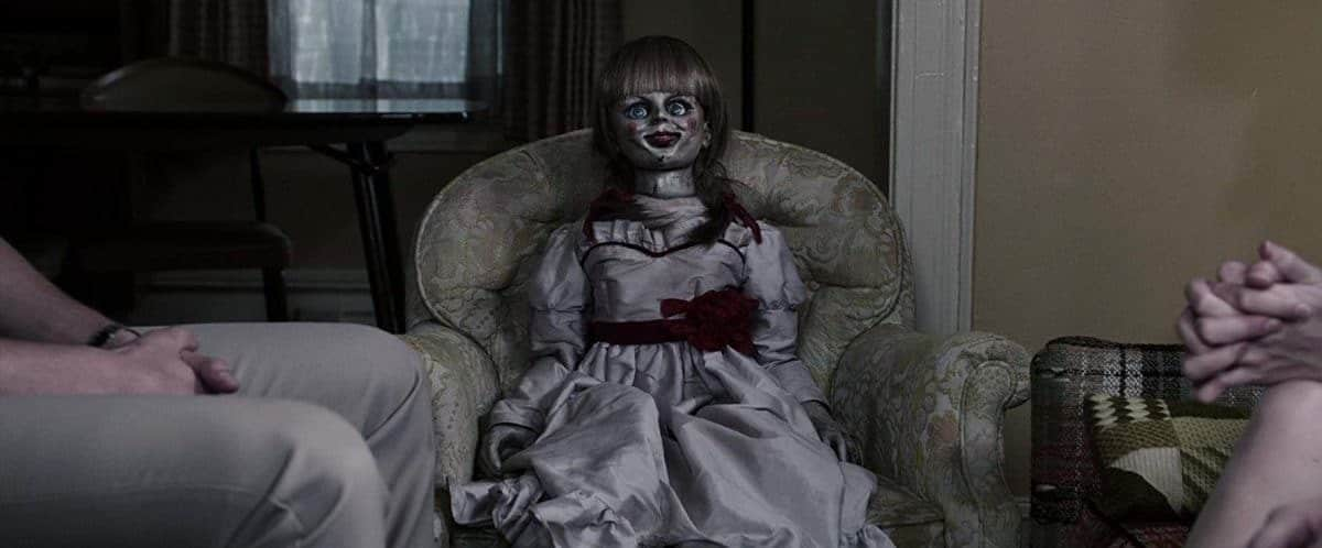 Annabelle the conduit to evil—a doll so scary she has spawned three spin-off movies.