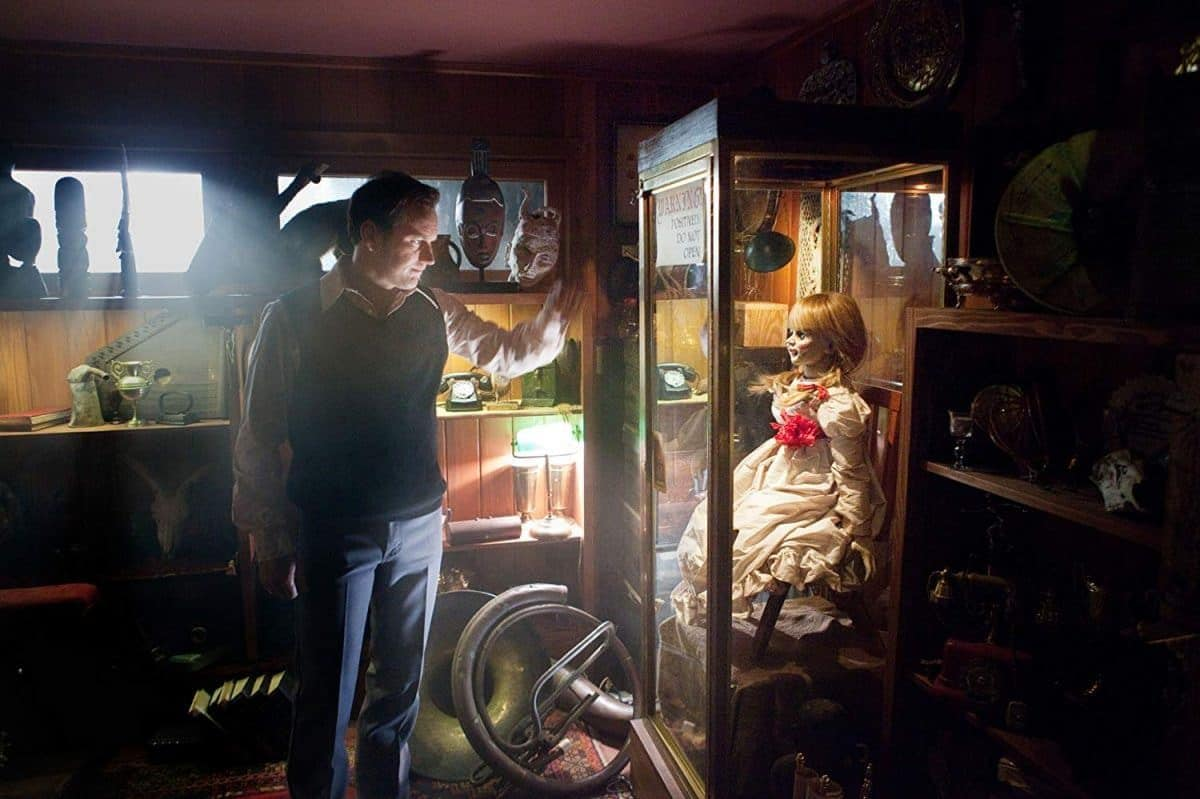 Annabelle is kept safely behind glass in the Warren's CT home.